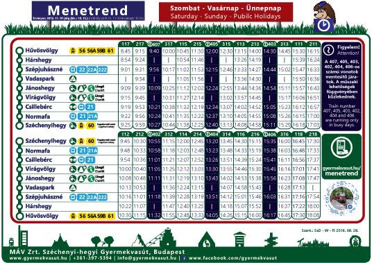 B3m - Őszi menetrend