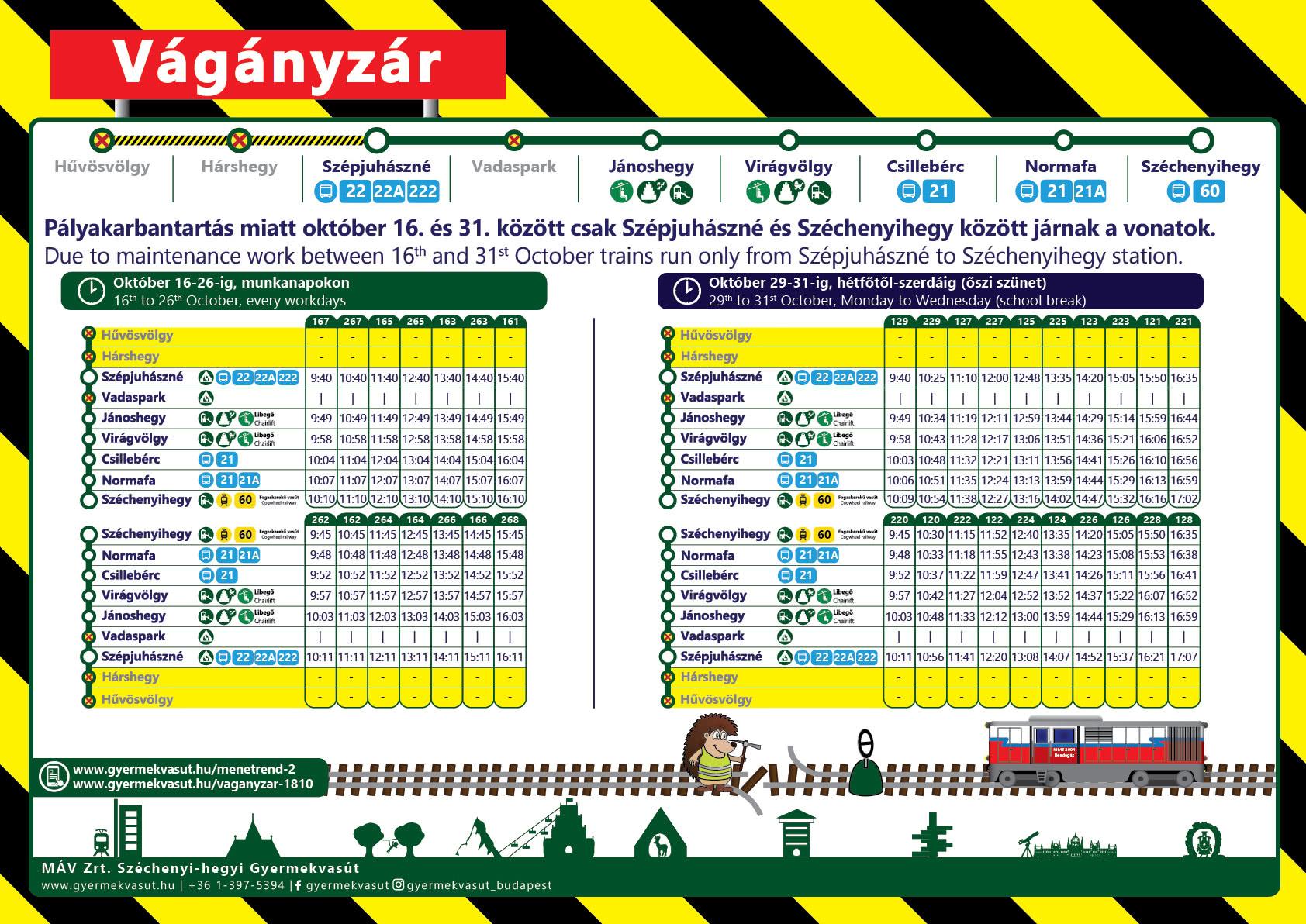 Érvényes: október 16-31. munkanapokon / Validity: 16th to 31st October, workdays